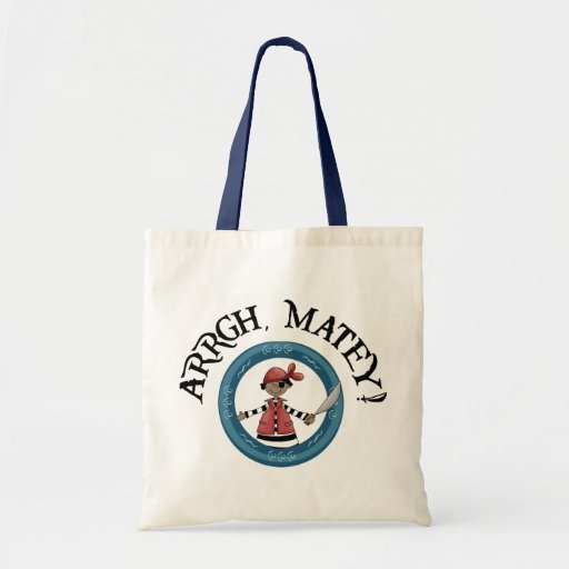 Arrgh Matey Pirate Boy Bag Canvas Bag