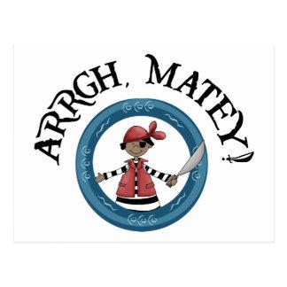 Arrgh Matey Pirate Boy Postcard