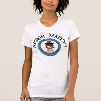 Arrgh Matey Pirate Girl Destroyed T-Shirt