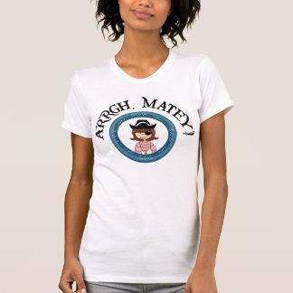Arrgh Matey Pirate Girl Destroyed T-Shirt T-shirts