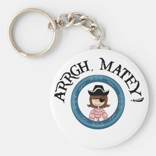 Arrgh Matey Pirate Girl Key Chain Keychains