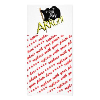 ARRGH Pirate Flag Customized Photo Card