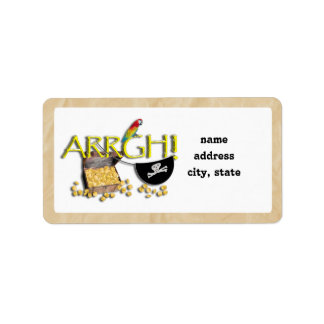 ARRGH! Pirate Treasure Address Label