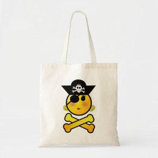 ARRGH! Smiley - Girl  Emoticon Pirate Budget Tote Bag