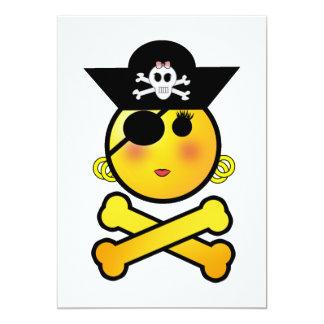 ARRGH! Smiley - Girl  Emoticon Pirate Card