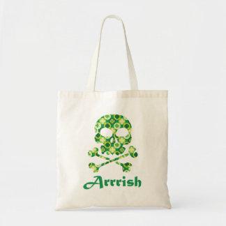 Arrish Irish Pirate Skull And Crossbones Tote Bags