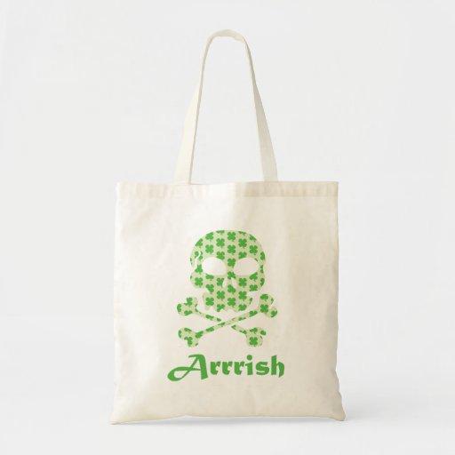 Arrish Irish Pirate Skull And Crossbones Tote Bag