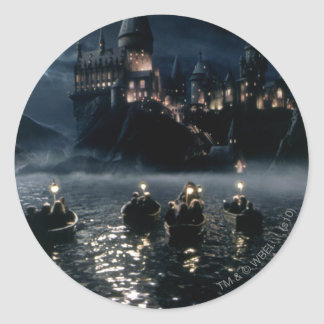 Arrival at Hogwarts Round Sticker