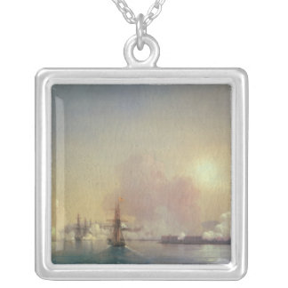 Arrival into Sebastopol Bay, 1852 Square Pendant Necklace