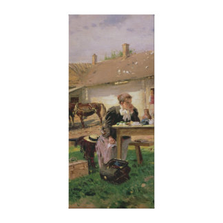 Arrival of a School Mistress in the Canvas Print