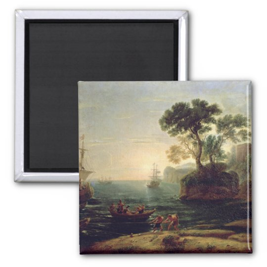 Arrival of Aeneas in Italy, the Dawn of the Square Magnet