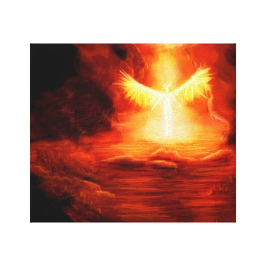 Arrival of an Angel Canvas Print