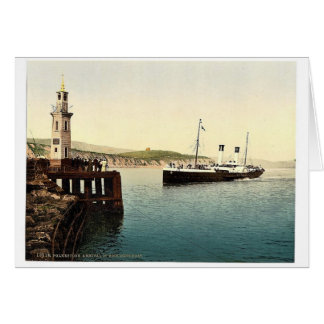 Arrival of Boulogne boat Folkestone England rare Greeting Cards