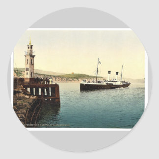Arrival of Boulogne boat, Folkestone, England rare Stickers