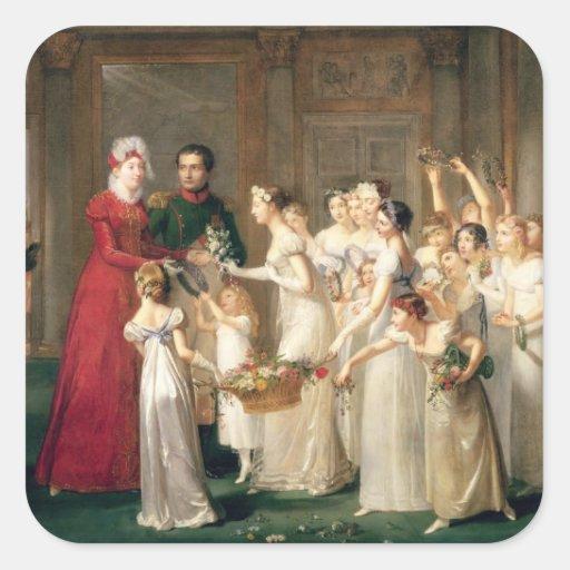 Arrival of Marie-Louise de Habsbourg-Lorraine Stickers