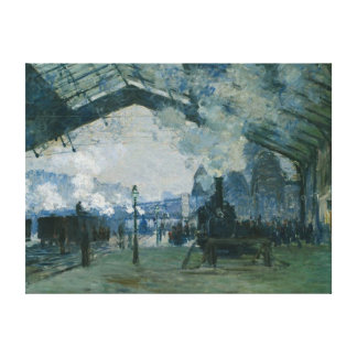 Arrival of the Normandy Train by Monet - Replica Stretched Canvas Prints