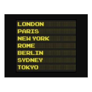 Arrivals and Departures Postcard