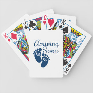 Arriving Soon Bicycle Playing Cards