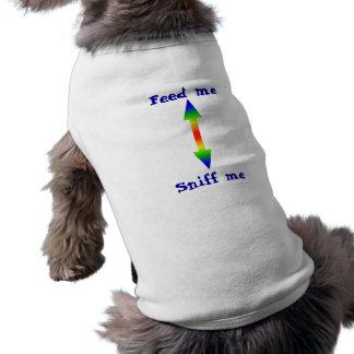 arrow 2 way, Feed me, Sniff me Sleeveless Dog Shirt
