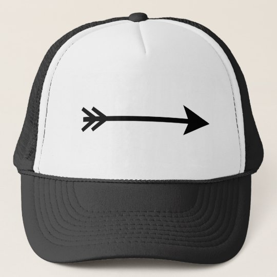 Arrow Black Straight The MUSEUM Zazzle Gifts Trucker Hat
