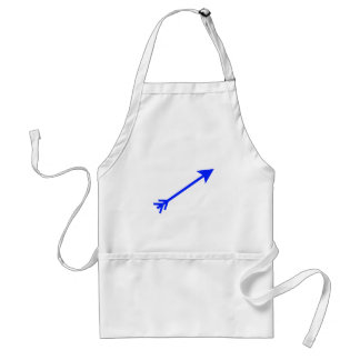 Arrow Blue 35deg The MUSEUM Zazzle Gifts Aprons