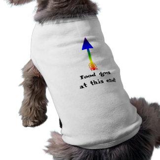 arrow, Food goes at this end! Sleeveless Dog Shirt