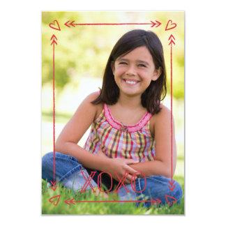 Arrow Frame Classroom Valentine - Cherry 9 Cm X 13 Cm Invitation Card