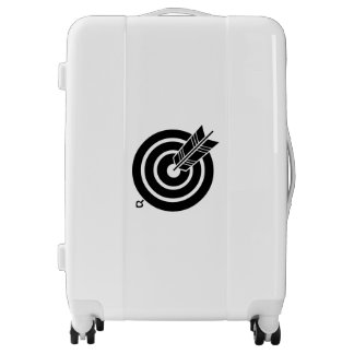Arrow hit a round target luggage