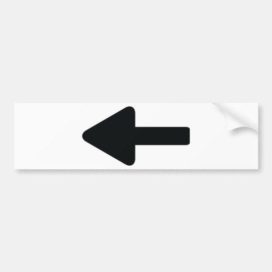 arrow left icon bumper sticker