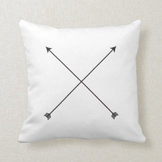 Arrow Modern Black and White Tribal Minimal Cushion