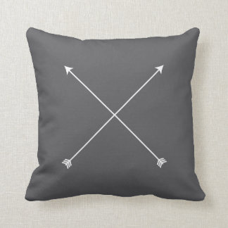 Arrow Modern Gray Minimal Tribal Cushion