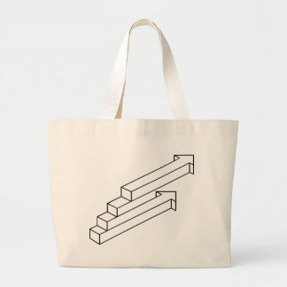 Arrow or Stairs Optical Illusion Canvas Bag