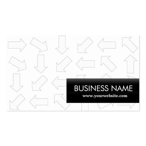 Arrow Pattern Apps developer Business Card