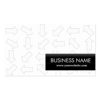 Arrow Pattern Athletic Trainer Business Card