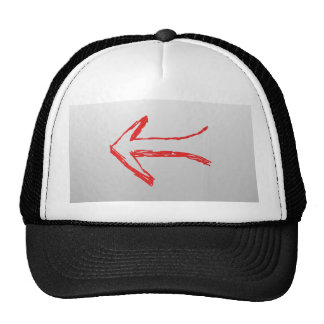 Arrow Pointing Left. On Gray. Trucker Hat