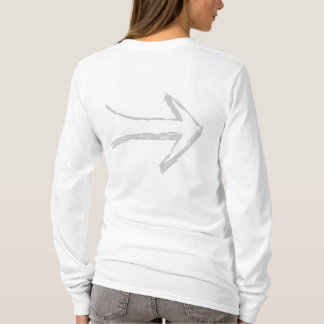 Arrow Pointing to the Right, Gray. T-Shirt