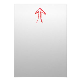 Arrow Pointing Up On Gray Personalized Announcements