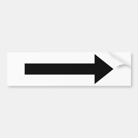 arrow right icon bumper sticker