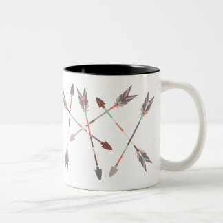Arrow Stack Two-Tone Coffee Mug