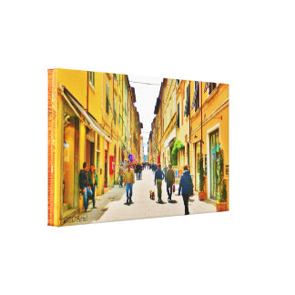 Arrow Straight Street, Wrapped Print Canvas Print