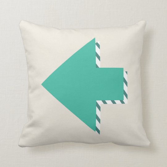 Arrow Stripes Modern Teal Blue Minimalist Cushion