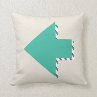 Arrow Stripes Modern Teal Blue Minimalist Cushion