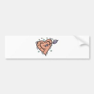 Arrow Through My Heart Bumper Stickers