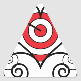 Arrow thru Heart Triangle Sticker