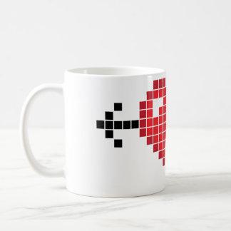 Arrow Thru My 8-Bit Heart Basic White Mug