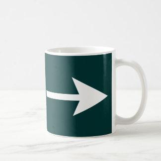 Arrow White Broken The MUSEUM Zazzle Gifts Basic White Mug