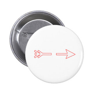 Arrow White-Red Broken The MUSEUM Zazzle Gifts 6 Cm Round Badge