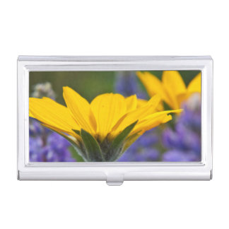 Arrowleaf Balsam Root and Lupine in Spring Bloom Business Card Holder