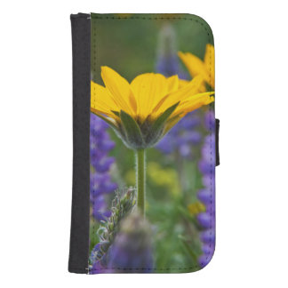 Arrowleaf Balsam Root and Lupine in Spring Bloom Samsung S4 Wallet Case