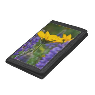 Arrowleaf Balsam Root and Lupine in Spring Bloom Tri-fold Wallet